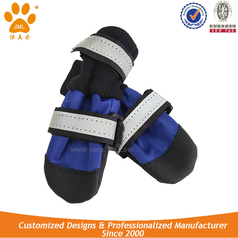JML new arrival wholesale anti-slip super warm waterproof pet rain boots cheap large dog running shoes