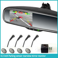 2014 Newest Car Rear View Mirror Wireless Reverse Camera And ...