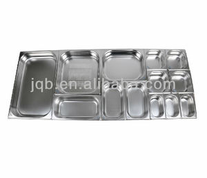 stainless steel 1/1 GN serving tray