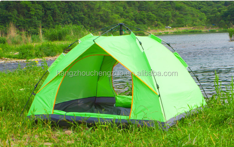 Hot Selling Automatic 2 Person Waterproof Fiberglass Pole Easy Folding Camping Tent, TXZ-0070B Family Dome Tent,Automatic Tent