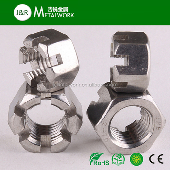 M2.5 M3 M4 M5 M6 M7 M24 M26 A2 A4 A4-70 A4-80 SS304 SS316 Stainless Steel Hex/Hexagon Slotted Nut Castle Nut DIN935