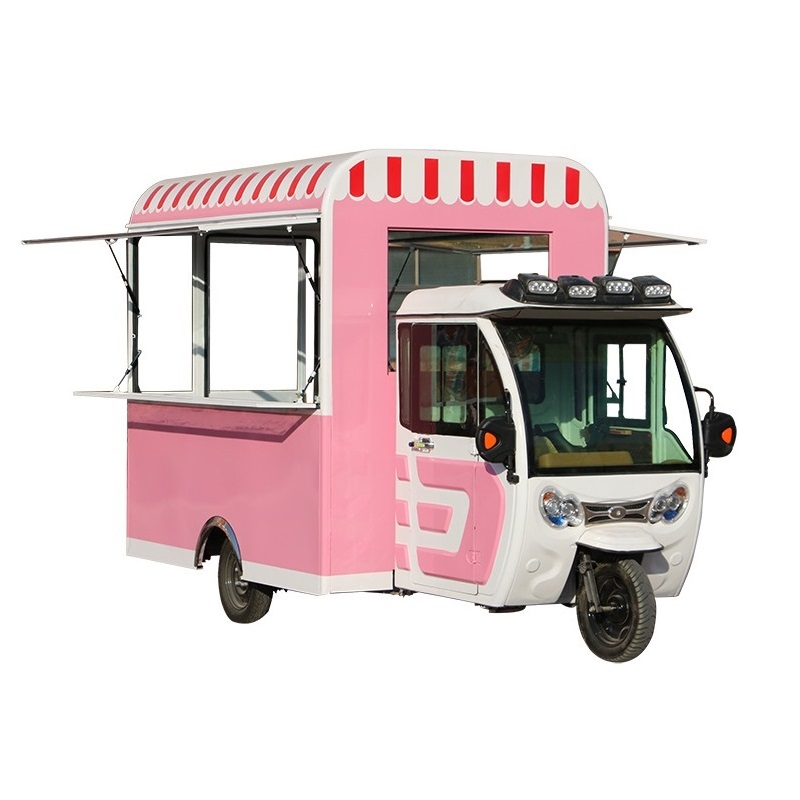 China Mini Mobile Electric Friteuse Hot Dog Dreirad Lebensmittel Wagen mit Rädern