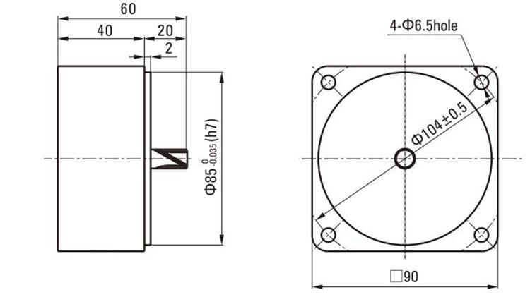90mm 5ik90 U0026120 U0026140gu-cf - Single Phase Ac Motor