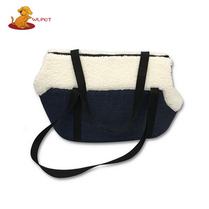 Widely Used Durable Jeans Soft Plush Pet Carrier With Foam