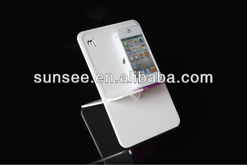 clear acrylic table top mobile phone display stand