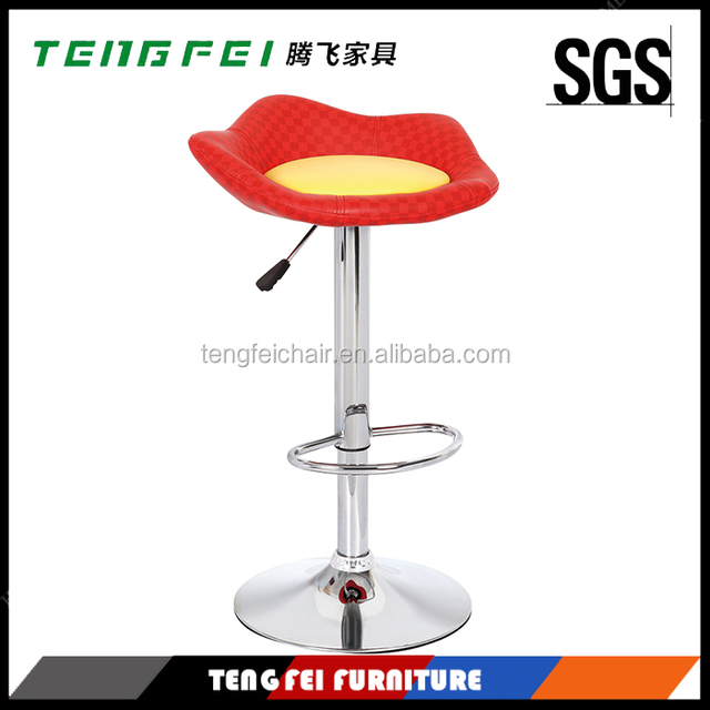 Bar stool high chair Certificated SGS gas lift,385mm chroming base,360 degree swivel!