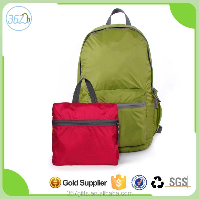 Leisure candy color backpack Waterproof nylon ultra-light folding travel backpack