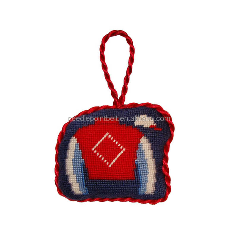 Jockey Silk Christmas Ornament Crafts in Needlepoint