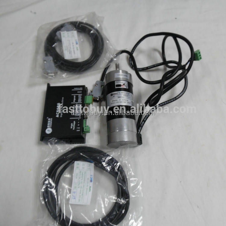 CNC 180W Brushless DC Servo Motor Dirve Kit 0.57Nm 3000rpm BLM57180-1000+ACS606