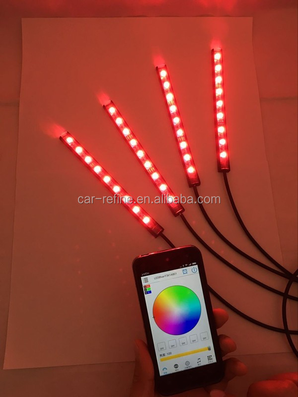 Bluetooth led strips suv car interior decorative atmosphere lamps bluetooth led strips suv car interior decorative atmosphere lamps rgb led lights rgb 17cm waterproof led mozeypictures Choice Image