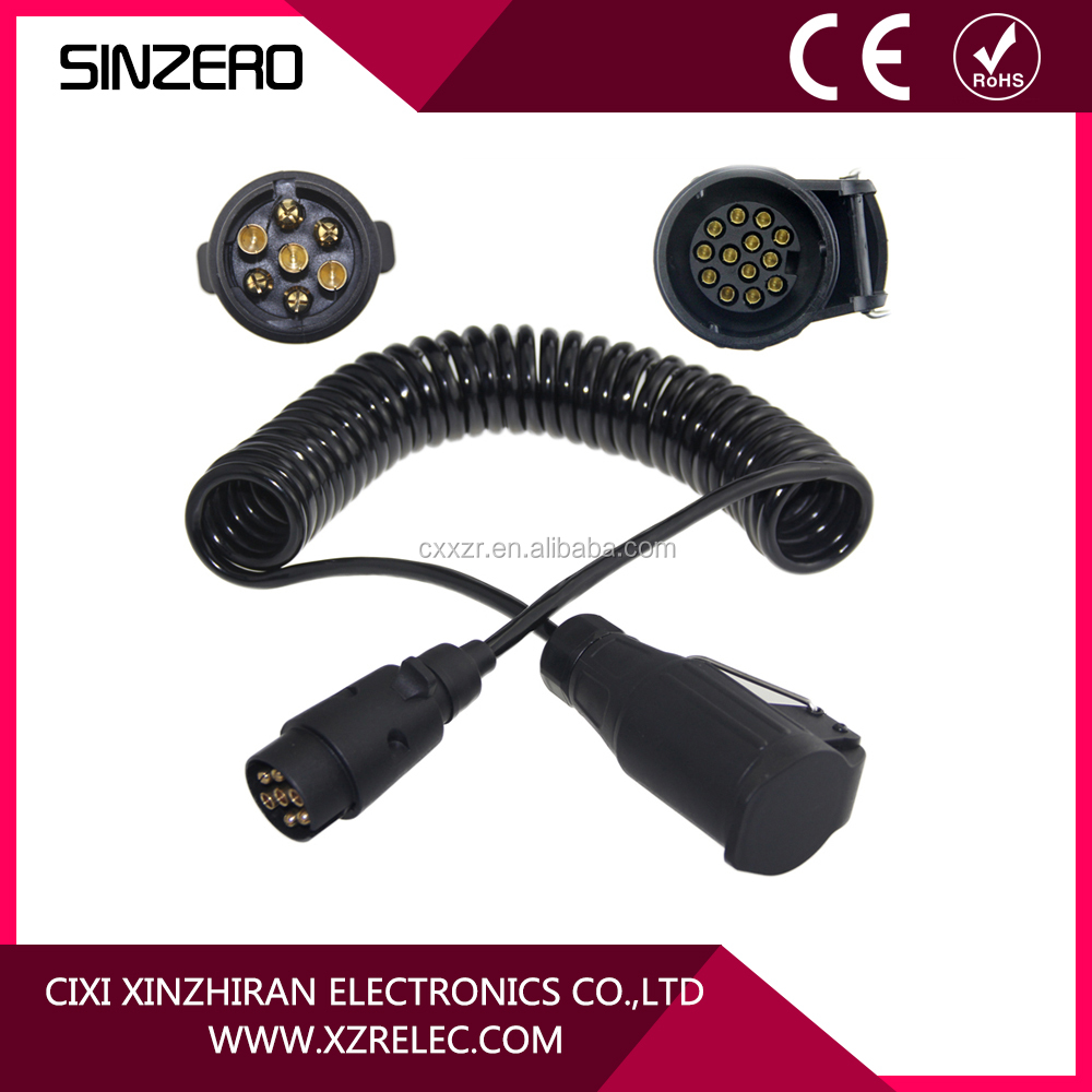 Spiral 7 Way Trailer Plug Wiring Electrical Diagram Hopkins Connector 4 Suppliers And Manufacturers Rh Alibaba Com Wire