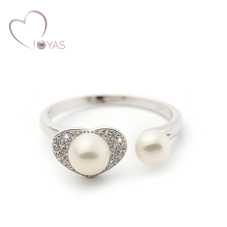 Fashion Wholesale Jewely Custom Silver Pearl Ring