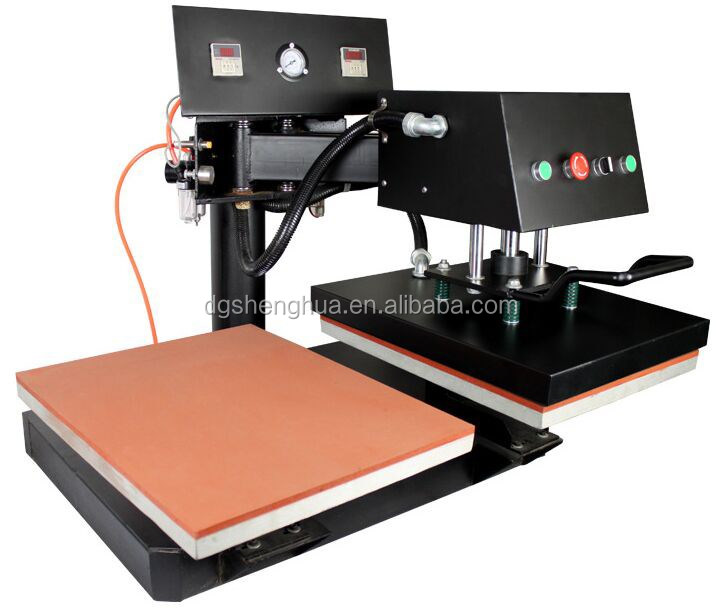 Swing arm pneumatic dual plate heat press