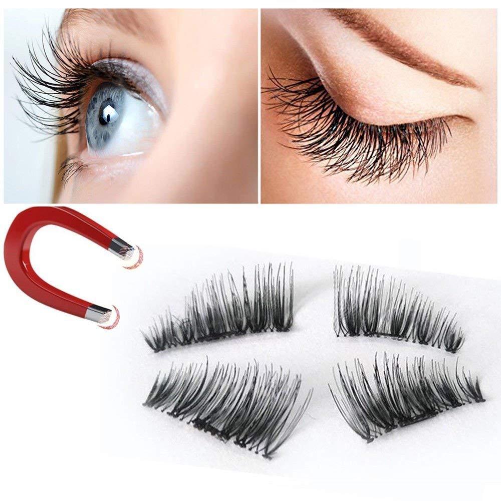02564adfb6b Get Quotations · Romote False Magnetic Eyelashes 3D Reusable Fake Eyelashes,Best  Fake eye Lashes Extensions No false