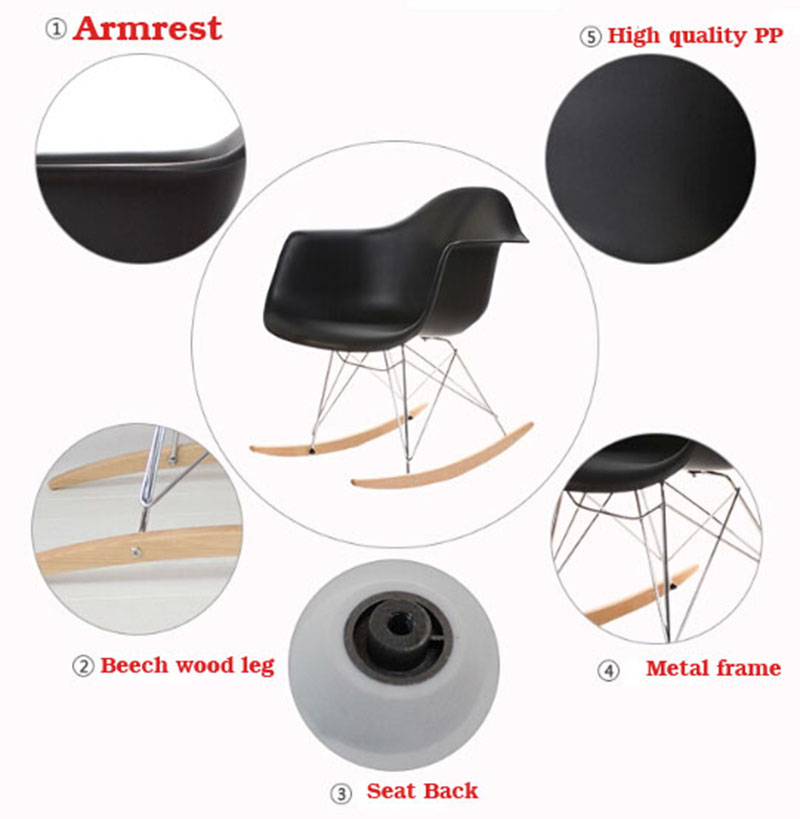 Modern simple fashion restaurant rest rest egg chair cheap high quality rocking chair for coffee shop