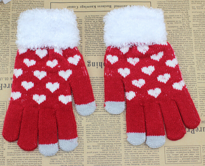 Hot selling touch screen winter gloves for smartphone, OEM cheap knit gloves, hand gloves manufacturers in china