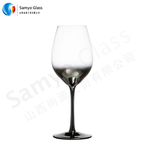 Samyo new arrival popular electric-painting golden/silver red wine glass