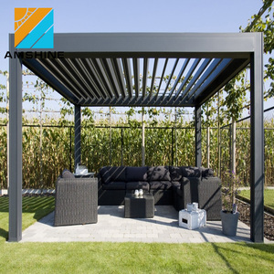 Electric Outdoor Aluminum Waterproof Gazebo louvre roof pergola