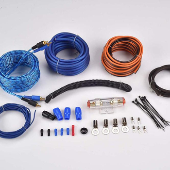 JLD Audio Blue 8GA CABLE High Quantity Car Audio Amplifier Wire Kits
