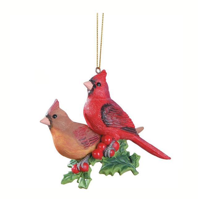 Resin Decorative Bird Cardinals Christmas Ornament - Resin Decorative Bird Cardinals Christmas Ornament - Buy Christmas