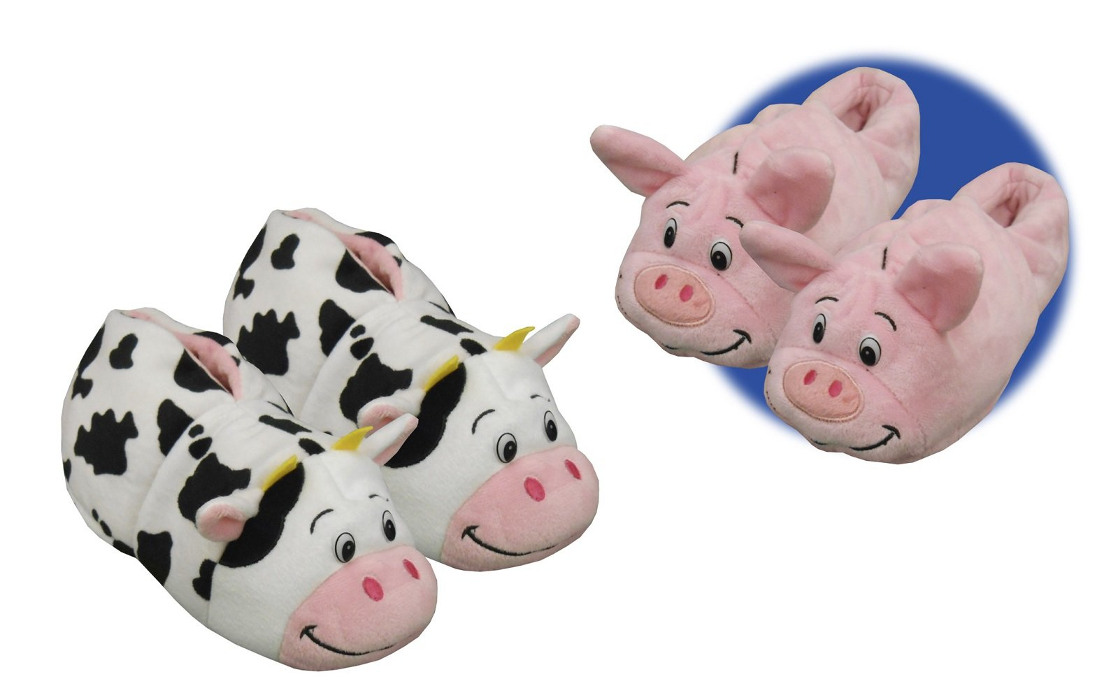 c0815772461 Get Quotations · Flipazoo Seen On TV Slippers Pig Transforming to Cow Size  Medium 12 13 - Two
