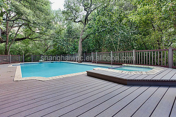 WPC composite materials Co- extrusion decking size:142*22.5mm