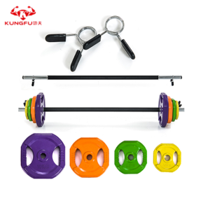 Fitness coloured barbell body pump barbell