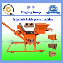 Manual hydraform interlock brick making machine price YF 2-40