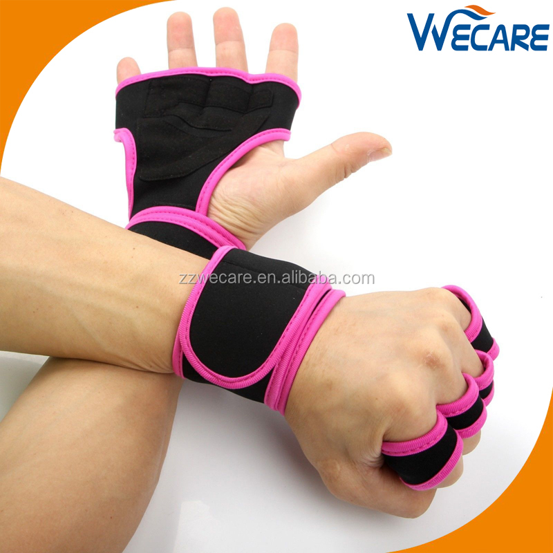 Custom Logo Neoprene Women Workout Exercise Training Powerlifting Gloves