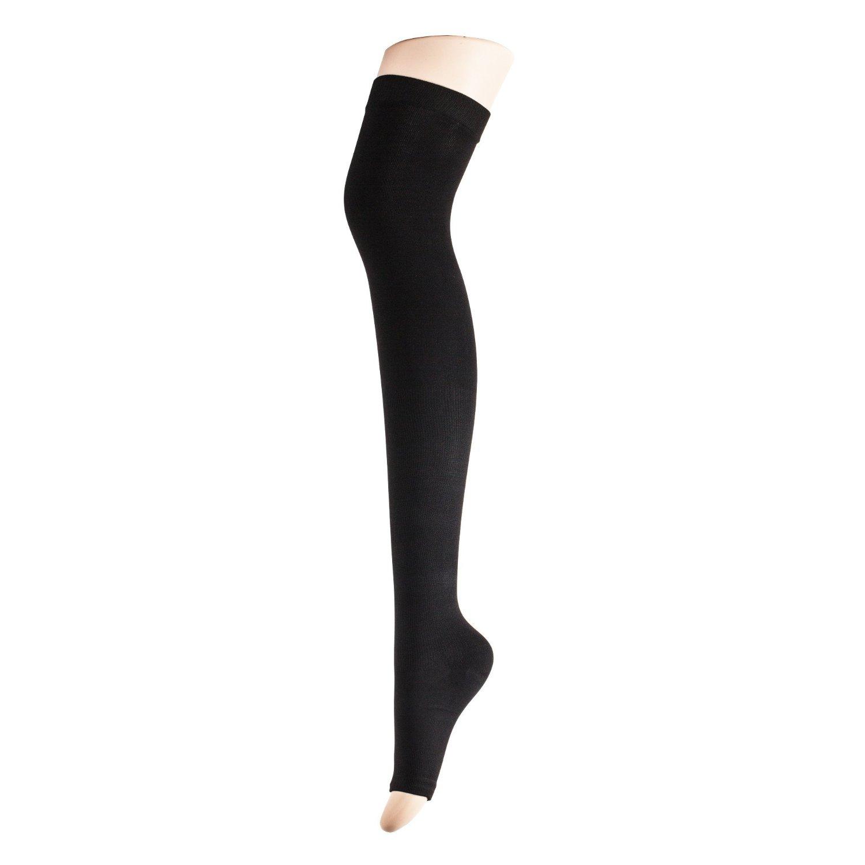 32ec45e90 Fonder Mols Women Yoga/sleep Thigh-high Compression Toeless / Open Toe Socks  Color