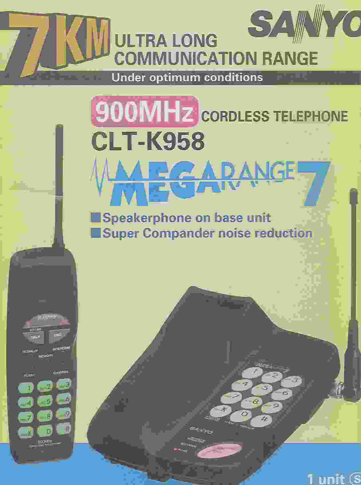 900MHZ Cordless Phone With Extra Long Range