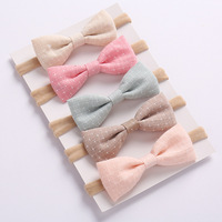 ins princess cute bowknot stylish elastic latest hairband designs plain accessories baby headband for girls hair accessories