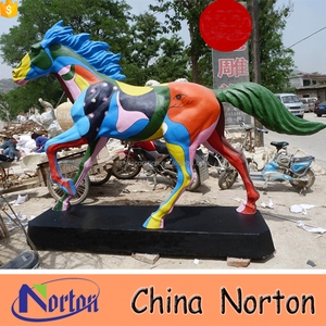 Fiberglass/resin life size outdoor horse statues exporter NTRS507A