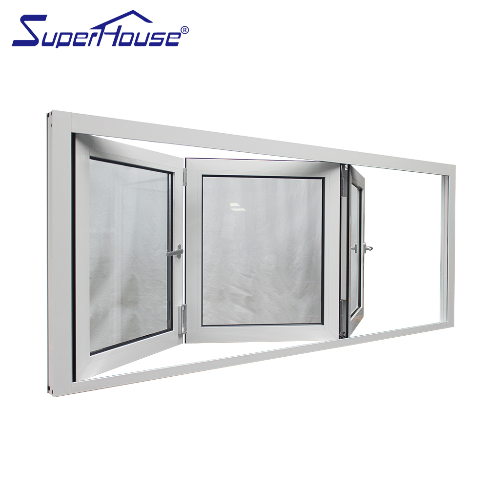 Miami-Dade Country Approved large size double glass aluminum profiles windows