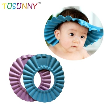 2019 new soft baby safety shampoo cap color baby shower cap child products