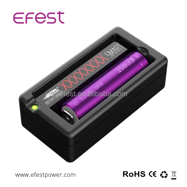Efest Xsmart Single USB Charger One Slot 18650 Li ion Battery Charger