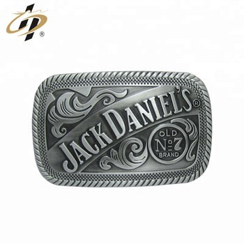 Custom antique effect zinc metal fashionable belt buckle