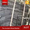 Ancient Wood Marble Slab Stone Slab With Polished Surface