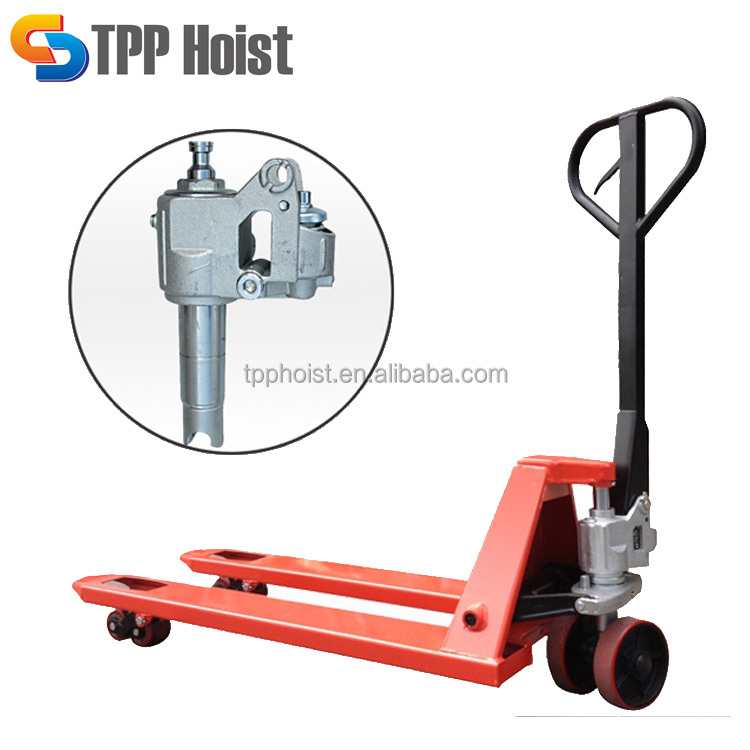 3 ton hand pallet truck, 3000kg manual pallet jack with PU wheel