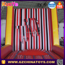 Hot sale cheap price inflatable sticky wall games with suit for kids and adults