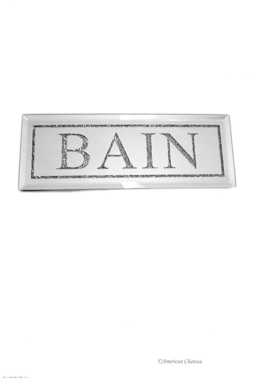 Lambris Pvc Salle De Bain Bricoman ~ Buy Bead And Mirror French Bath Quot Bain Quot Bathroom Door Wall