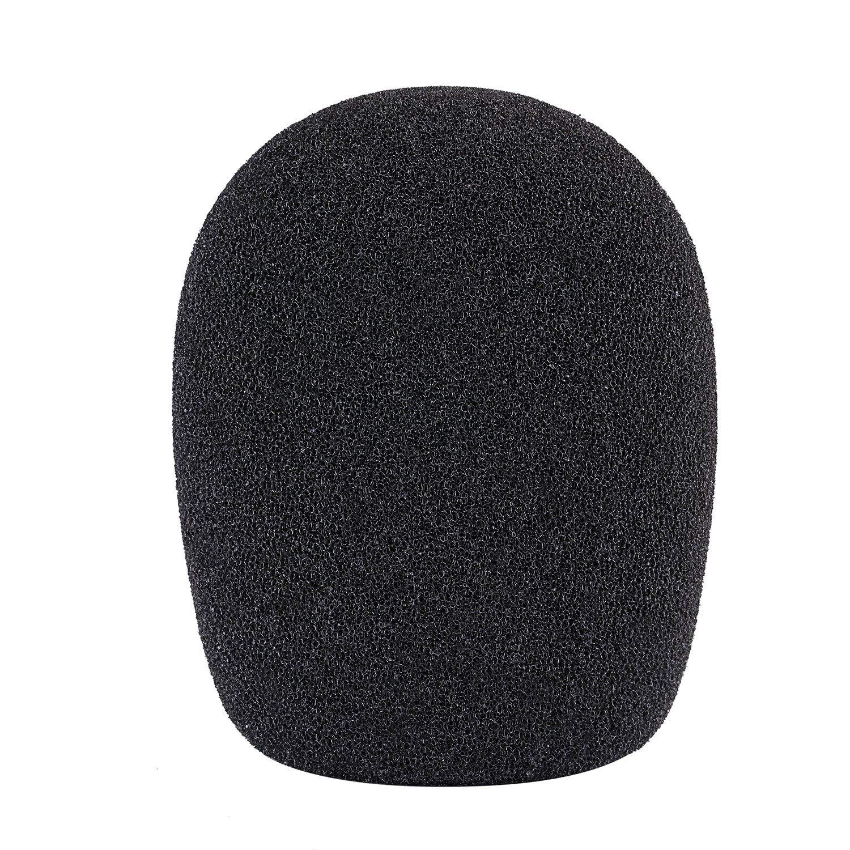 Neewer Ball Type Foam Windscreen Pop Filter for Condenser Microphone,1.8″ x 1.8″ x 3.54″/ 4.5cm x 4.5cm x 9cm, Black