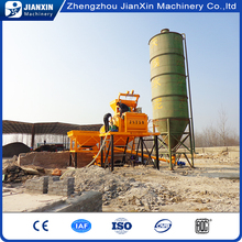 Diesel engine powered fixed concrete mixing plant