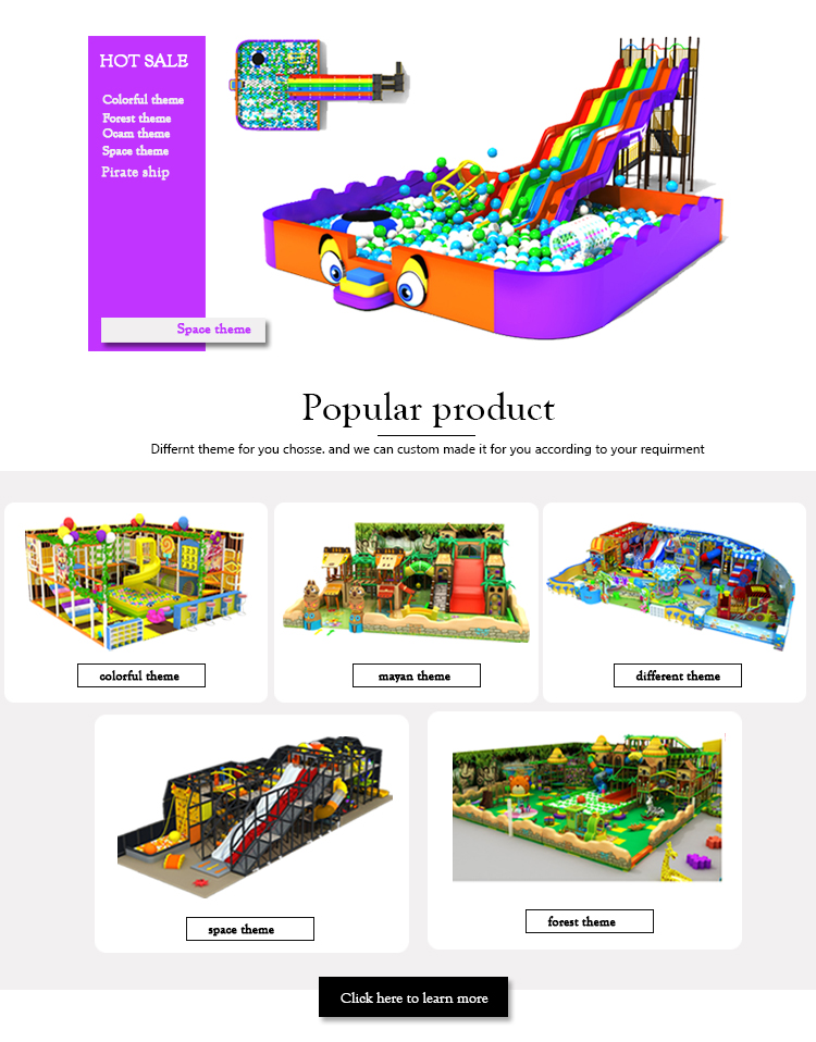 Top supplier small size with tube space theme kids indoor playground