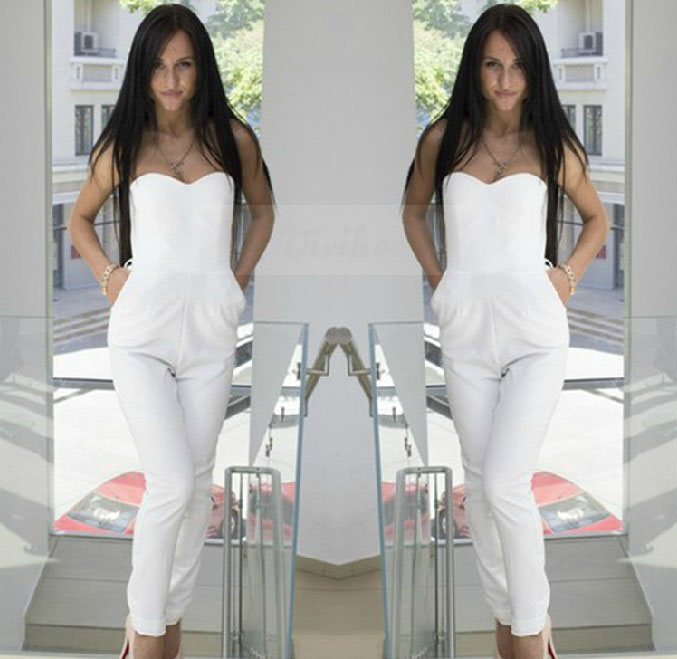 3a94bc45ab14 2019 Wholesale 2016 New Summer Style Sexy Women White Rompers ...