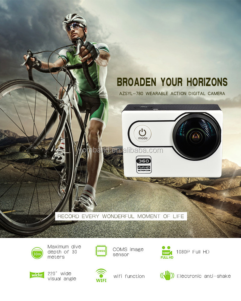 2017 new waterproof hd 1080p helmet sport action camera for extreme sport