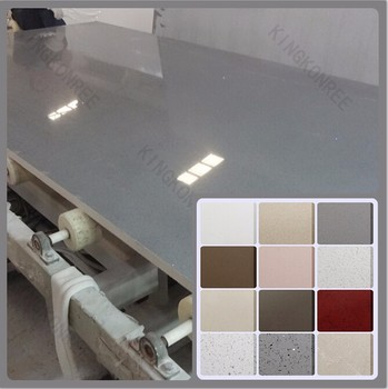 Prefab man made white sparkle quartz stone for countertop for Man made quartz countertop