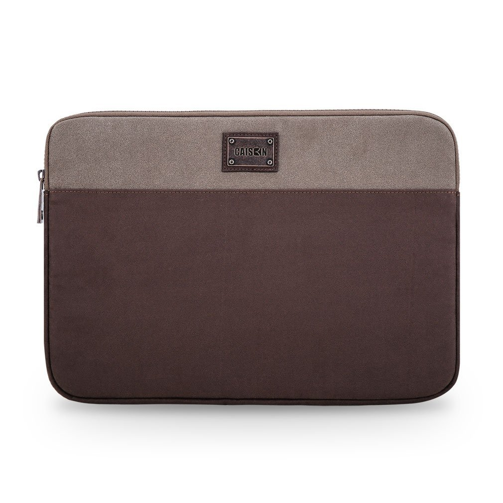 "Caison 11.6"" Suede Laptop Sleeve Case Microsoft 12.3"" Surface Pro 4 / 3 Apple 11 inch MacBook Air (Brown / Beige)"