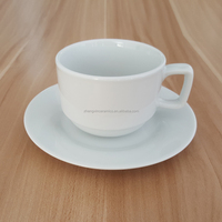 Wholesale high quality porcelain tea cup and saucer with custom logo make in China