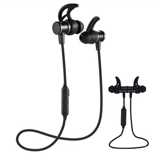 SLS-100 portable BT headset V4.1 magnetic design, wireless earplug with microphone operation